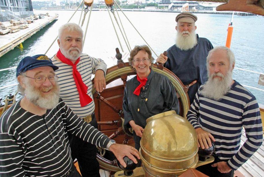 L-R - Robin, John, Margaret, Tom & DonPhoto: Mike Richter